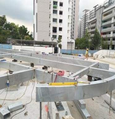 Steel Structural Truss Works for the Sengkang General Hospital